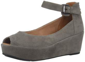Gentle Souls Women's Nyssa 2 Peep Toe Wedge Pump Cement 9.5 M US