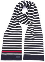 Saint Laurent Striped Knitted Scarf