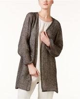 Eileen Fisher Organic Linen-Blend Open-Front Jacket