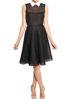 Valentino Silk Organza Shirt Collar Dress
