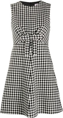 RED Valentino Checked Bow-Detail Dress
