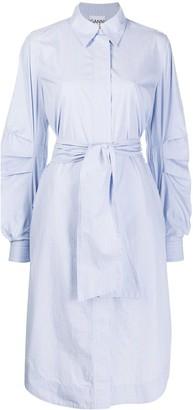 Ganni Pinstripe Shirt Dress