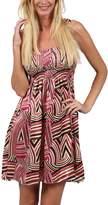 Ingear Print Smocked Bodice Sundress Beachwear Summer Elastic Tube Top Dress (, Black/Red)