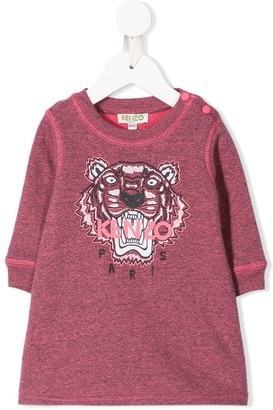 Kenzo Tiger Embroidered Sweatshirt Dress