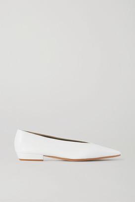 Bottega Veneta Leather Ballet Flats - White
