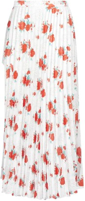 Vetements Split Floral Print Pleated Midi Skirt