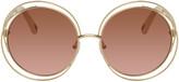 Chloé Gold and Pink Carlina Sunglasses