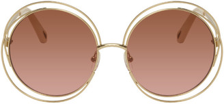 Chloé Gold and Pink Carlina Sunglasses