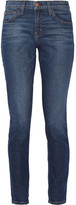Current/Elliott The Mamacita High-rise Slim Boyfriend Jeans - Mid denim