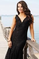 Jovani Sleeveless Long Fitted Lace Dress 33050