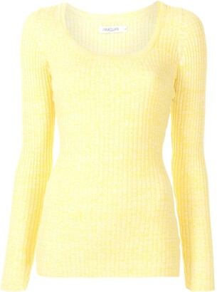 ANNA QUAN Saffi rib-knit long sleeve top