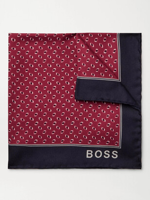 HUGO BOSS Printed Silk-Twill Pocket Square