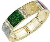 Charter Club Bracelet, -Tone Christmas Holiday Glitter Tile Stretch Bracelet