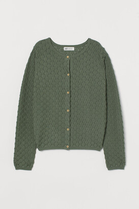 H&M Textured-knit Cardigan