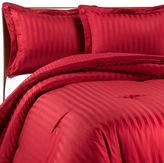 Wamsutta Mills Damask Stripe Twin Comforter Set in Red