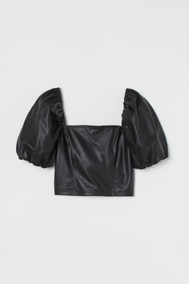 H&M Faux Leather Top