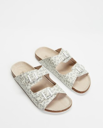 Walnut Melbourne Women's Neutrals Flat Sandals - Bailey Slides - Size 39 at The Iconic