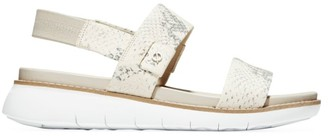 Cole Haan ZeroGrand Global Snakeskin-Embossed Leather Sport Sandals