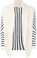 Loewe striped open cardigan