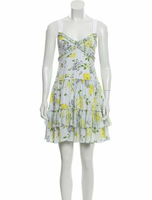 Cinq à Sept Silk Floral Dress yellow