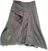 Junya Watanabe Green Cotton Skirt for Women