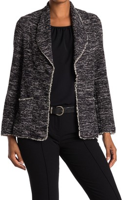 Max Studio Shawl Collar Tweed Jacket