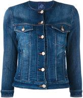 Jacob Cohen buttoned denim jacket - women - Cotton/Elastodiene/Spandex/Elastane - M