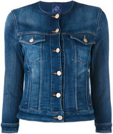 Jacob Cohen buttoned denim jacket - women - Cotton/Elastodiene/Spandex/Elastane - S