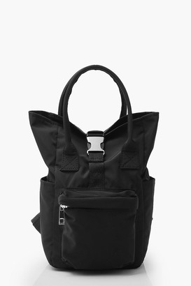 boohoo Mini Back Pack With Buckle Detail