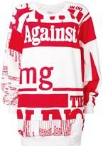 Maison Margiela oversized printed sweatshirt