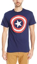 Marvel Men's Captain America Avengers Shield Logo T-Shirt