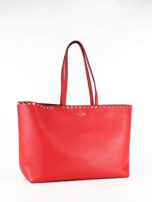 Valentino Rockstud Top Handles Tote Bag