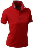 Xpril Coolon Fabric Short Sleeve Pocket Point Polo T-shirt Size L