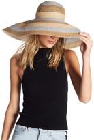 Eric Javits Stripe Dip Brim Water Repellent Hat