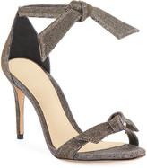 Thumbnail for your product : Alexandre Birman Clarita Mid-Heel Metallic Evening Fabric Sandals