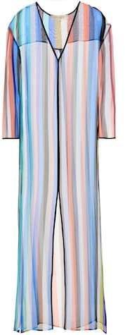 Diane von Furstenberg Striped silk cover-up