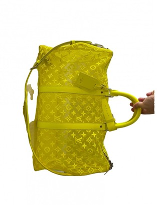 Louis Vuitton Keepall Yellow Cloth Bags