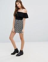 Brave Soul Printed Mini Skirt