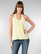 Racer Bank Tank with Back Detail in Yellow
