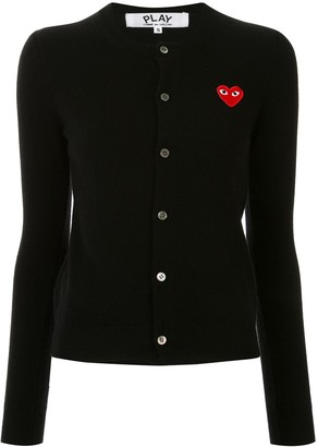 Comme des Garcons Logo Embroidered Buttoned Cardigan