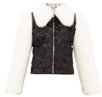 Shrimps Otis Faux Fur Jacket - Womens - Black Cream