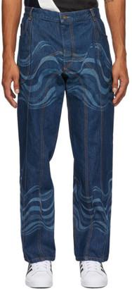 Ahluwalia Blue Low Rise Jeans