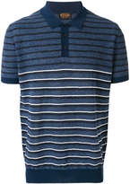Tod's striped knitted polo shirt