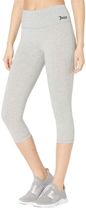 Juicy Couture Women's Essential High Waisted Cotton Crop Legging