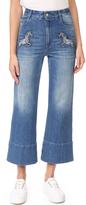 Stella McCartney Denim Flared Cropped Jeans