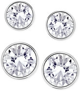 Swarovski Silver-Tone 2-Pc. Set Crystal Stud Earrings