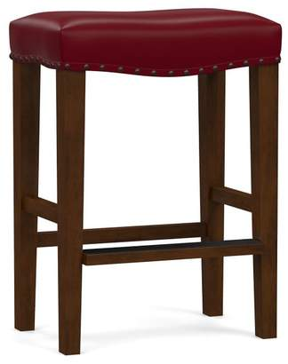 Pottery Barn Manchester Backless Leather Bar & Counter Stools