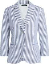 Lauren Ralph Lauren Ralph Lauren Striped Cotton Blazer