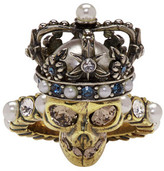 Alexander McQueen Gold King Skull Ring
