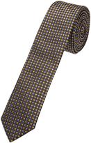 Oxford Silk Tie Diamonds Brn/Yl/Blue